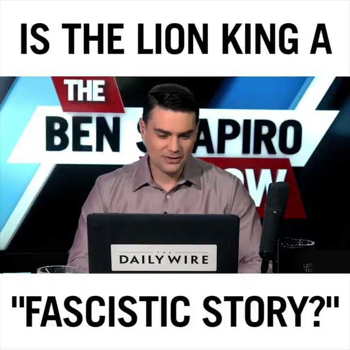 🎥 Is the Disney classic 'The Lion King' a tale that supports fascism and patriarchy? A WaPo journalist thinks so. @BenShapiro explains why that is ludicrous.FULL VIDEO ==> https://www.youtube.com/watch?v=g8OoL8-2fK0 …