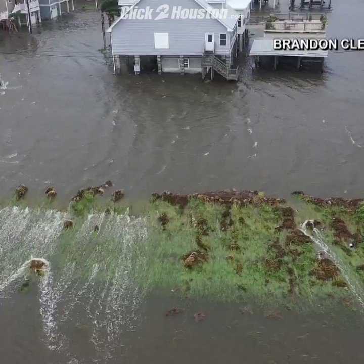 As Tropical Storm Barry pounds Louisiana, water is rushing over the top of leeves protecting Plaquemines Parish South of New Orleans. State officials say they are concerned about how long the levee can hold up before it gives away. #TropicalStormBarry