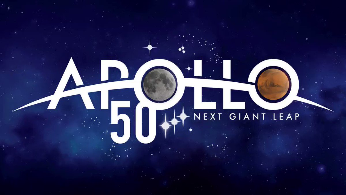 Fifty years ago, humans took their first steps on the Moon. The world watched as we made history. This week, you can watch us salute our #Apollo50th heroes and look forward to our next giant leap for future missions to the Moon and Mars. Tune in: go.nasa.gov/2XCwqXW