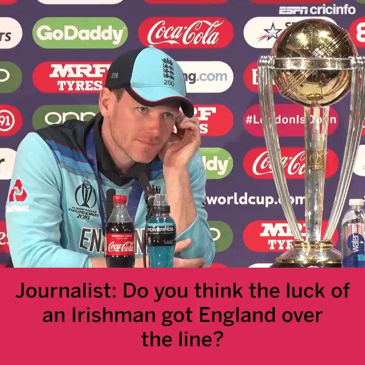 It wasn't just the luck of an Irishman that got England the #CWC19 trophy last night!  #NZvENG | #CWC19Final https://t.co/3s4MeDIg53