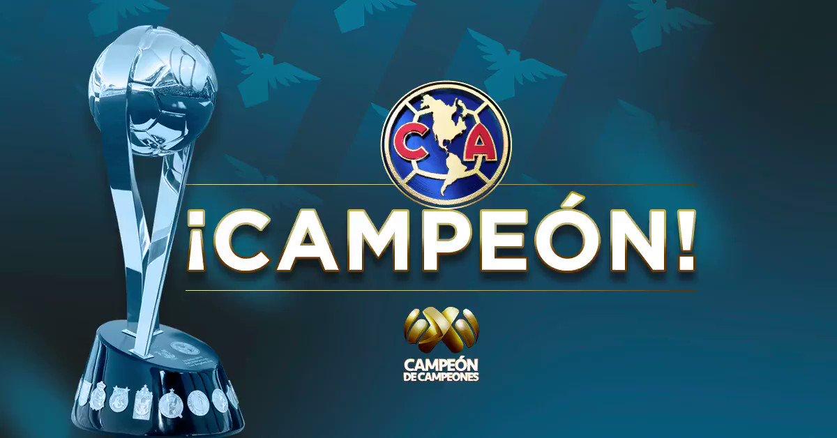 RT @ClubAmerica: EL CAMPEÓN DE CAMPEONES ES NUESTRO‼️ #SOMOSAMÉRICA 🦅 https://t.co/MlKVYMwvjL