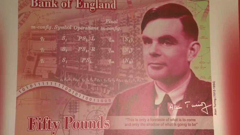 WATCH: Mathematician and Second World War code-breaker Alan Turing is picked to be the face of the Bank of England's £50 note. Read more: https://reut.rs/2XSF6oq
