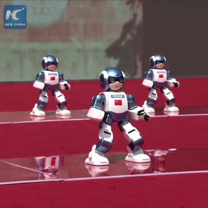 Everybody was Kung Fu fighting! #Robots at Shaolin Temple in Henan give eye-opening #KungFu performance