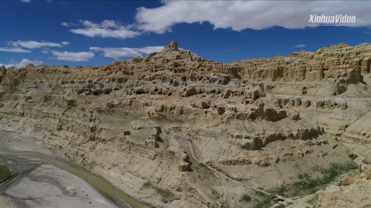 An earth forest that covers an area of nearly 2,500 sq km in southwest China's Tibet