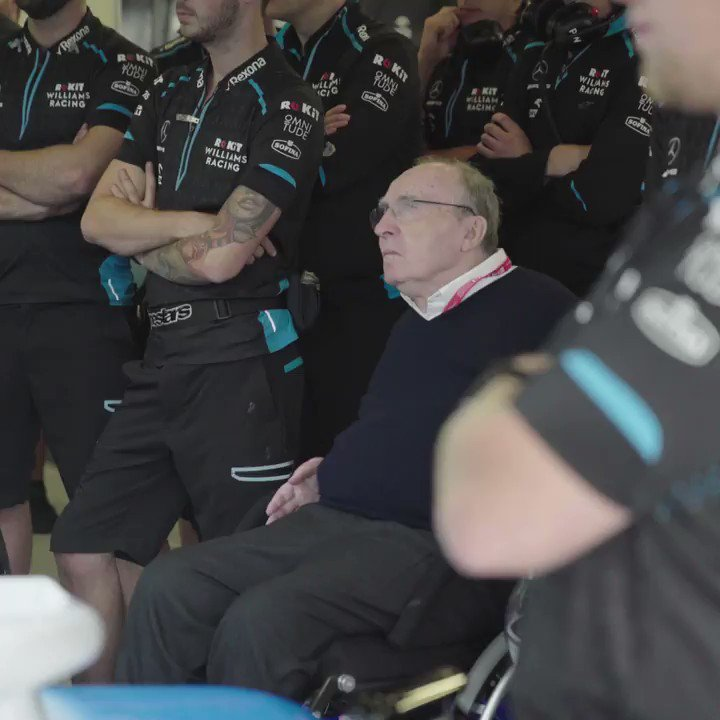 It was a busy weekend of celebrations for the boss...  Congratulations again on 50 years in Formula One, Sir Frank. 👏 #BritishGP