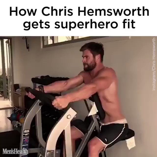 This is how Chris Hemsworth stays superhero fit at 36 years old  . Happy Birthday