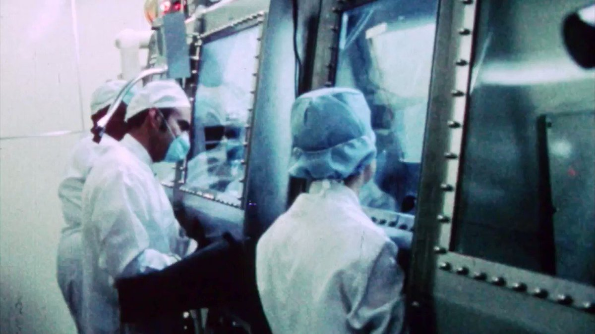 Is there life on the Moon? No, but 50 years ago we didn't know the answer to that question. Take a look inside the lab where our researchers tested Apollo 11 Moon samples for signs of life in this historic, never-before-seen footage: go.nasa.gov/2Llt9FW #Apollo50th