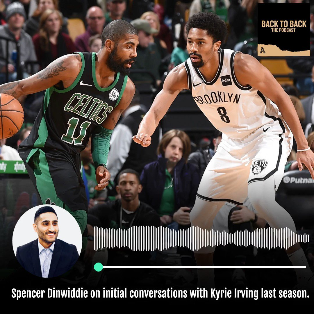 My debut on The Athletic Podcasts, with Nets guard Spencer Dinwiddie. Inside his relationship with Kyrie Irving, when their initial dialogue began, how Brooklyn appealed to free agents, 'silver lining' of 2019-20 without Kevin Durant, more. https://theathletic.com/podcast/8-back-to-back/?episode=35…