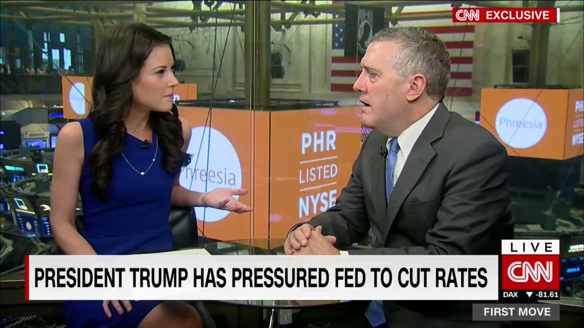 """""""Now I think trade uncertainty is high and I don't see that declining anytime soon."""" St. Louis Federal Reserve Bank President James Bullard says that volatility from trade uncertainty won't end even if the US makes a trade deal with China. https://cnn.it/2JEqaGQ"""