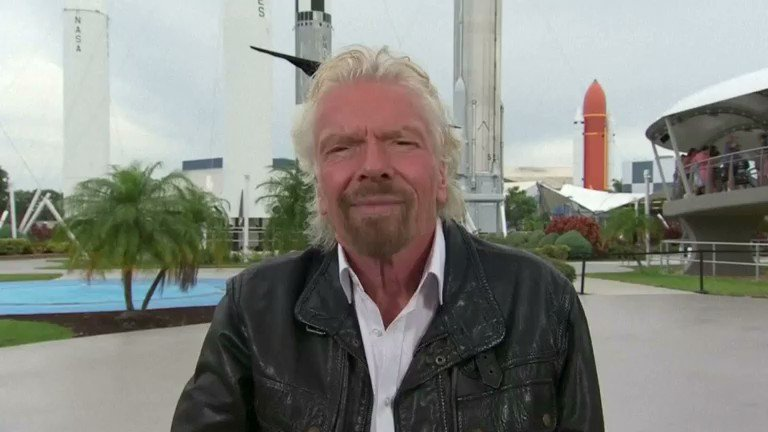 British billionaire Richard Branson remembers watching the moon landing on live television at the age of 19 and says he was inspired to found his own space-tourism company. More on the race to space: https://reut.rs/2LuvXAK