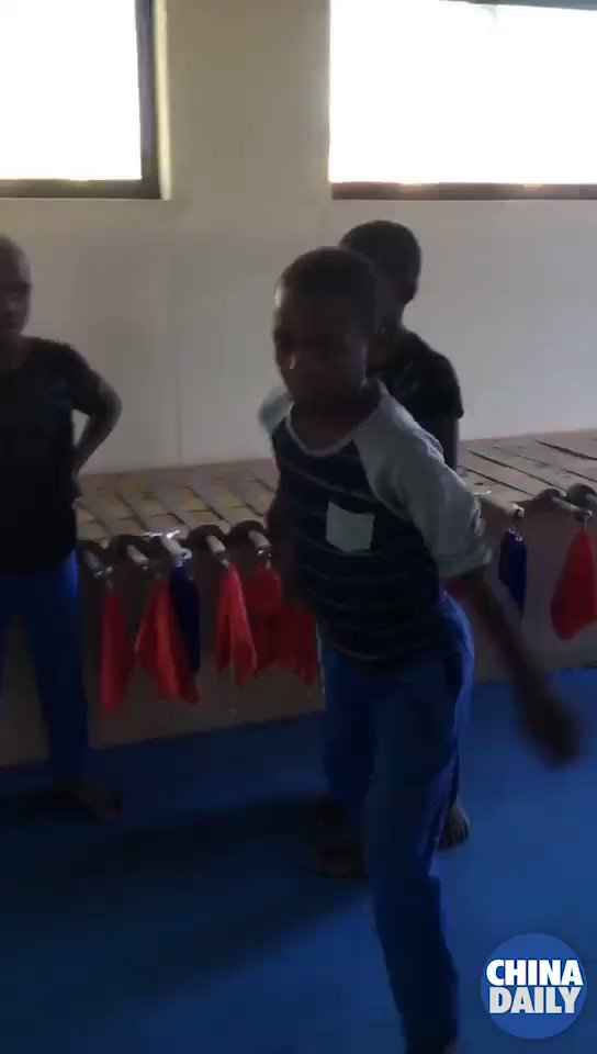 Take a minute to enjoy these special martial arts performances by kids from #Africa! #kungfu #HeyChina
