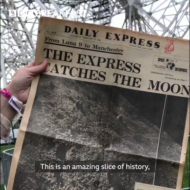 🌒How the @Daily_Express and @jodrellbank worked together to get the first ever picture of the moon's surface ⬇️#BBCMoon #Moon50 @JayneMcCubbinTV