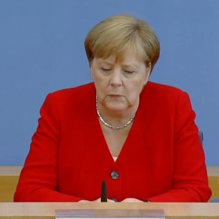 "Merkel when asked about Trump's attack on @AOC @RashidaTlaib @Ilhan @AyannaPressley, ""Without question, I reject (Trump's racist comments) and stand in solideraity with the congresswomen he targeted."""