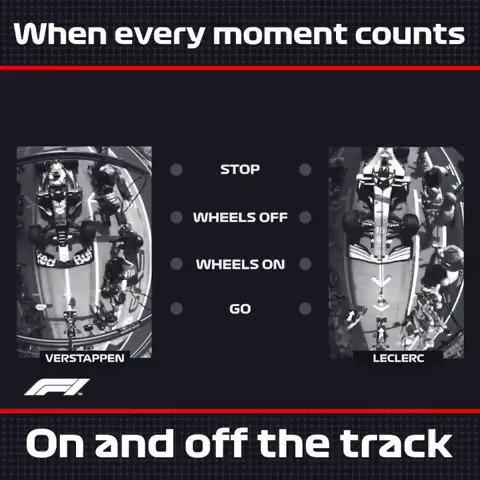 .@Max33Verstappen 🆚 @Charles_Leclerc ⏱ Quando ogni momento conta 🔎 Ecco cosa ha fatto la differenza 📽 nel loro pit stop in contemporanea #SkyMotori #F1 #Formula1