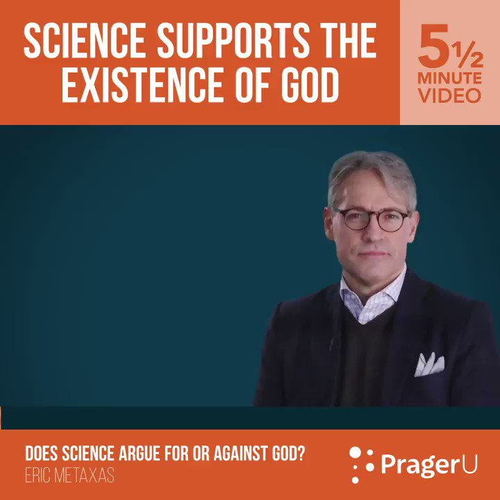 RT @prageru: Science doesn't deny the existence of God. https://t.co/3QZDJzymOA