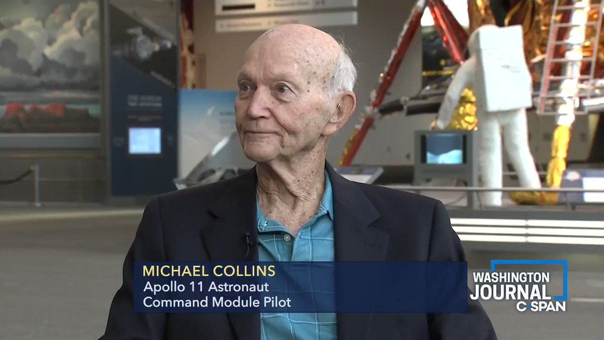 """""""What do you wish people asked you [about Apollo 11]?""""  @astromcollins """"How much did I get paid for it""""   #Apollo11 #Apollo50"""