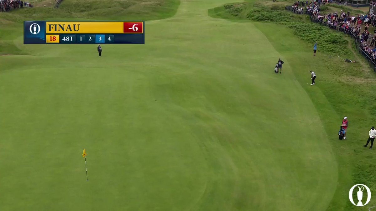 A flop to finish ↕️ @tonyfinaugolf with the shot of the day on 18! #TheOpen