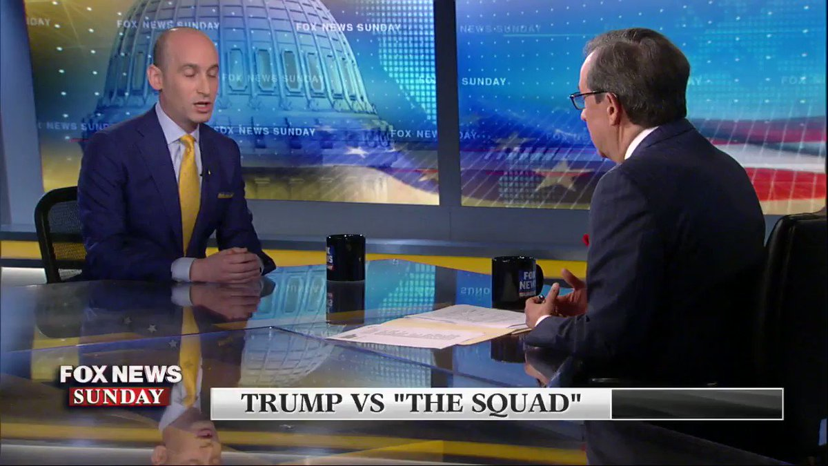 I think Stephen Miller thinks everyone's an idiot while he's the smartest person in the room. Thank you Chris Wallace @FoxNewsSunday for calling out the utter ignorance and stupidity in the Stephen Miller's attempted explanation.