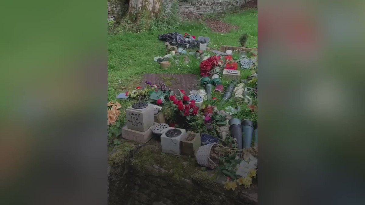 Visitors to this crematorium were disgusted to find that their tributes had been moved.