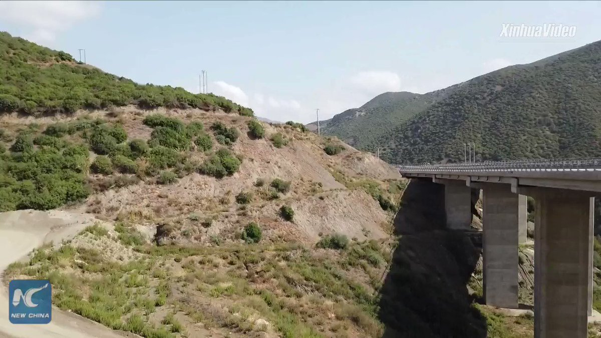Part of the 53-kilometre Algerian North-South Expressway, built by Chinese firm, is open to traffic