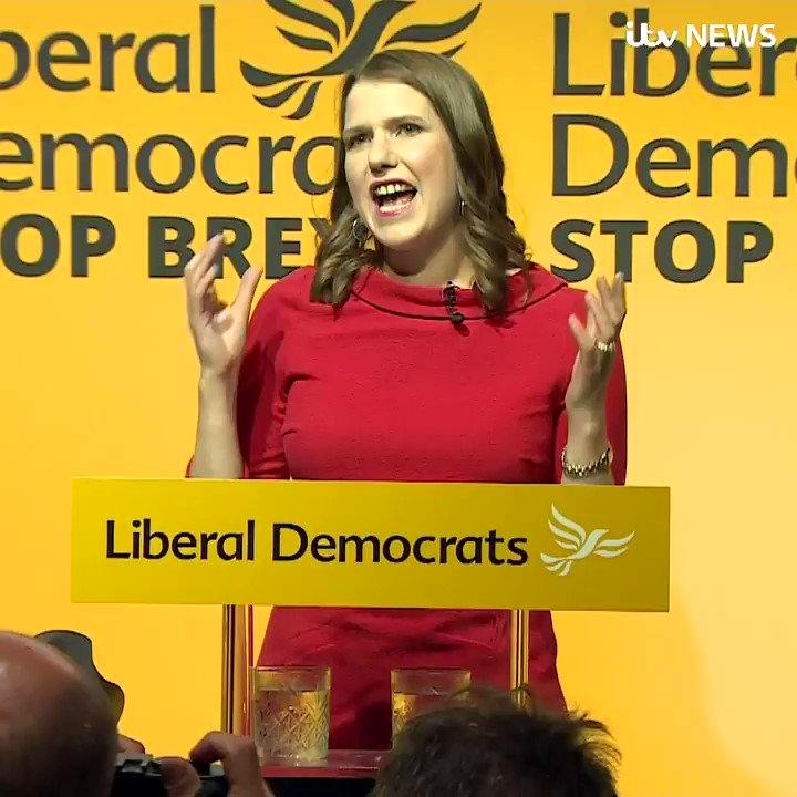'I will do whatever it takes to stop Brexit'  New @LibDems leader Jo Swinson makes commitment that her party will continue campaigning for the UK to remain in the EU https://www.itv.com/news/2019-07-22/jo-swinson-declared-new-leader-of-liberal-democrats/ …