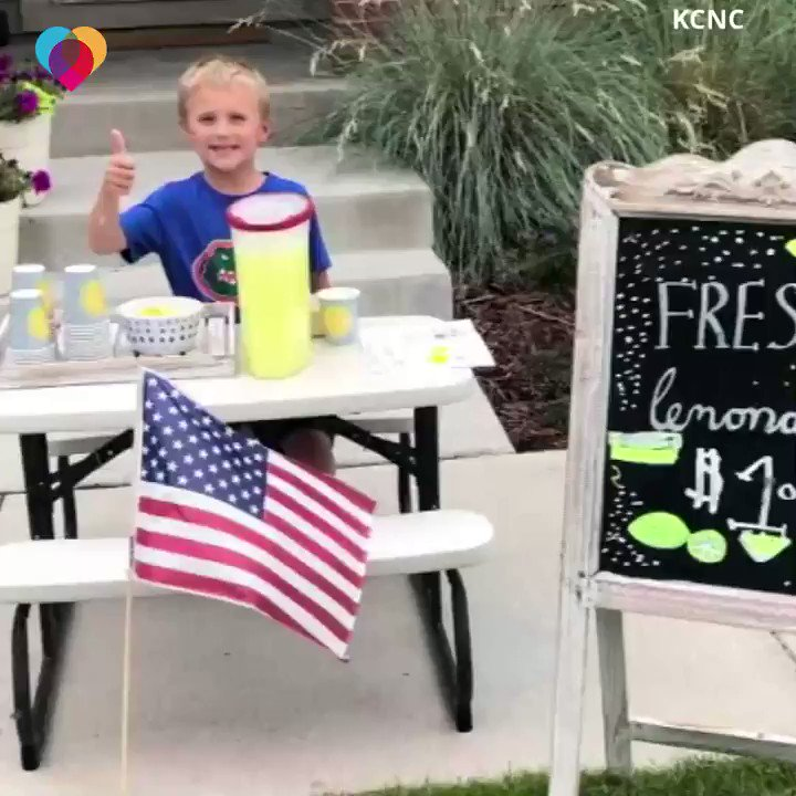 This 6-year-old boy was looking forward to holding a lemonade stand with his dad. When his dad passed away, he decided to open a lemonade stand in his honor – and raise money to take his mom on a date 💛 https://cbsn.ws/2O8z4Al