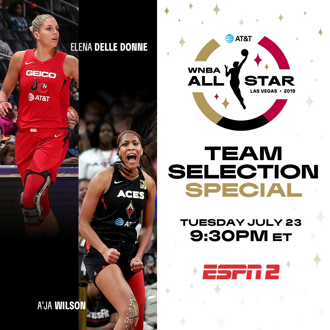 MUST. SEE. TV. 💥#WNBA All-Star captains @De11eDonne and @_ajawilson22 will choose their teammates Tuesday during the Team Selection Special at 9:30 pm/et on ESPN2!