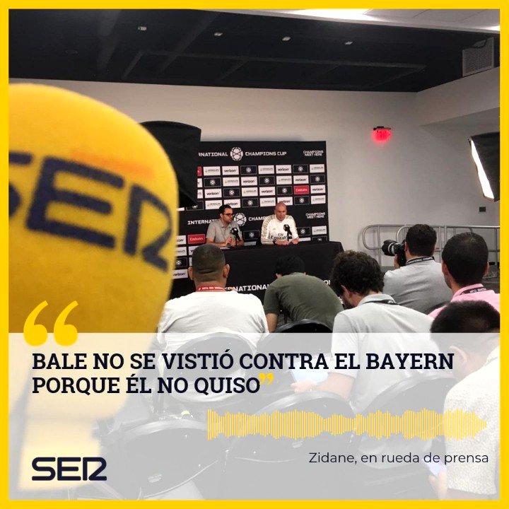 🎙️ Las DIFERENCIAS entre lo que Zidane dijo el domingo de Bale y lo que ha dicho hoy en rueda de prensa 👇  http://play.cadenaser.com