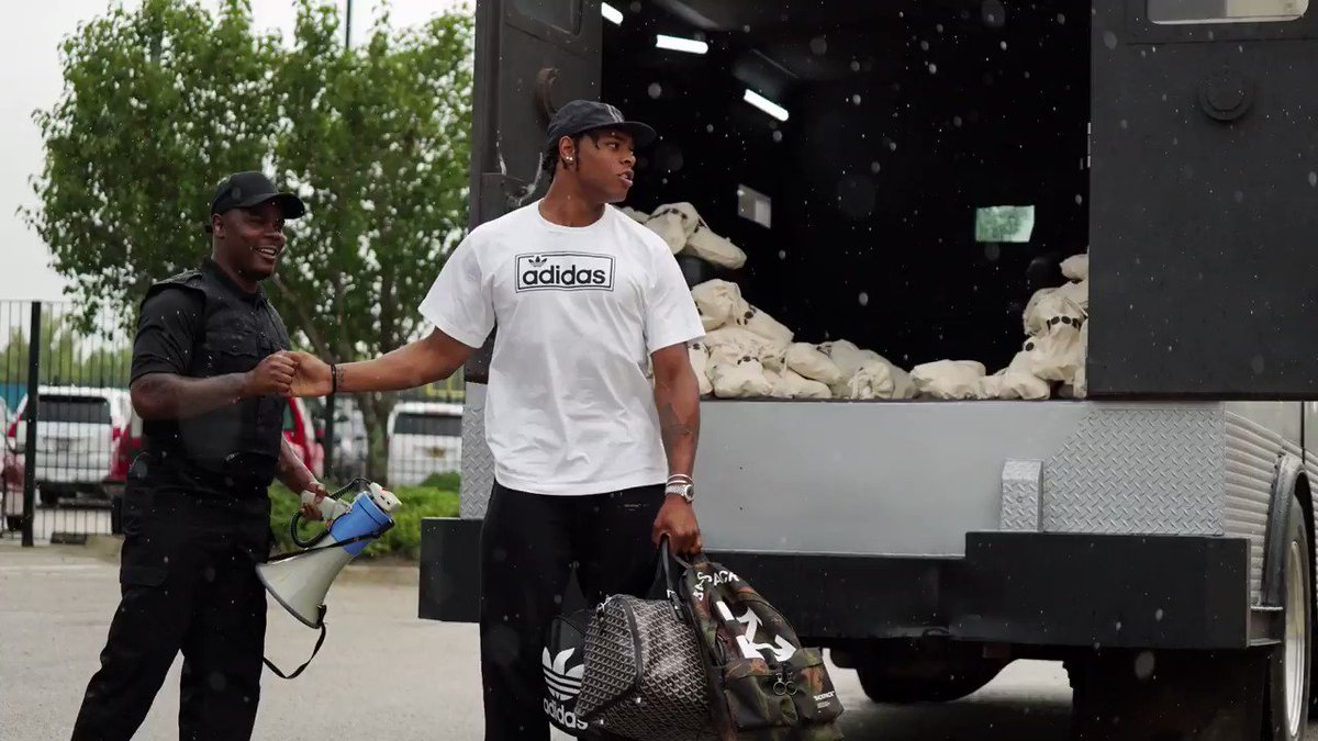 Jalen Ramsey rolled up to training camp in a Brink's truck 🤣💸 (via @Jaguars)