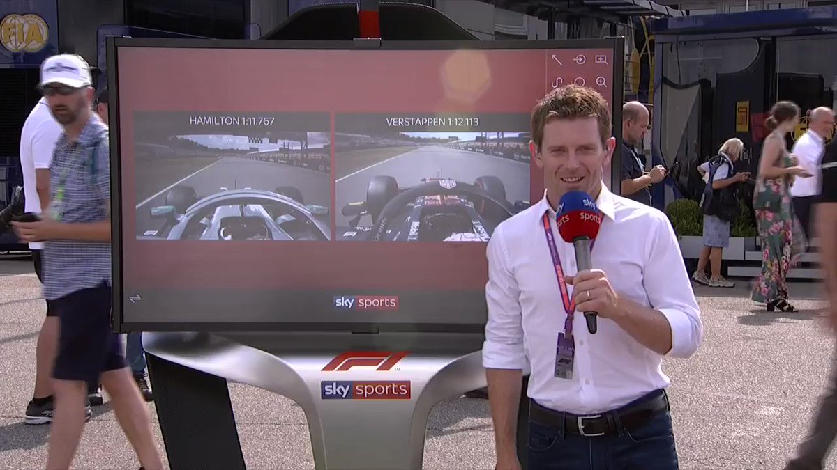 🥇@LewisHamilton 🥈@Max33Verstappen  ⏱@antdavidson is at the SkyPad, to analyse two fascinating #GermanGP qualifying laps!