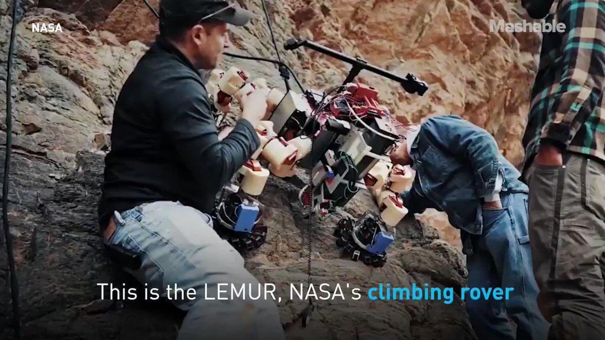 NASA's climbing robot is totally fearless