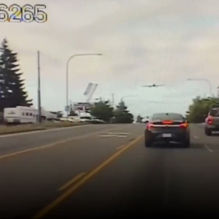 WATCH: A small plane makes an emergency landing on a Washington highway.