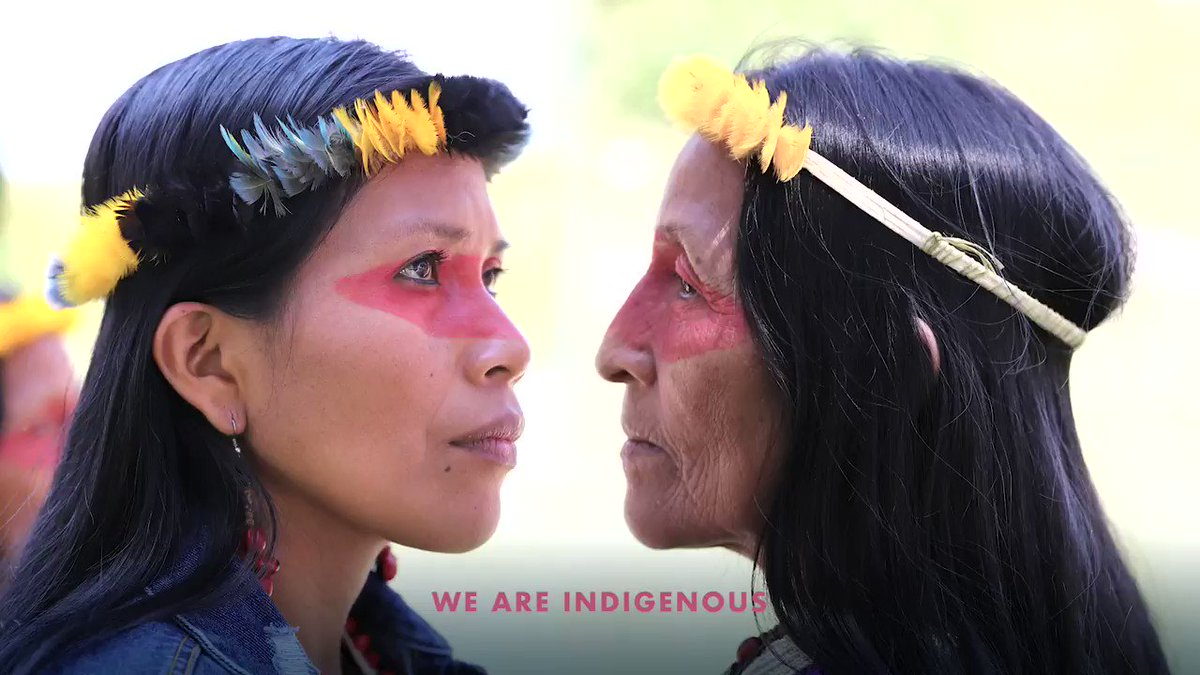 Image for the Tweet beginning: #WeAreIndigenous: The Waorani people have