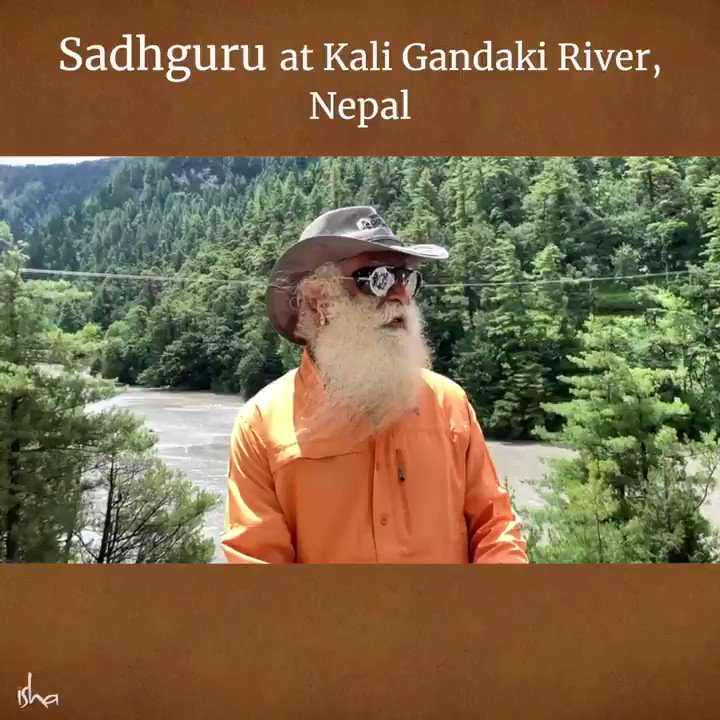 Two days around river Kali Gandaki at the foothills of Annapoorna 1 beyond words. #Nepal a must for all who love Nature and Mountains. -Sg #SadhguruInKailash