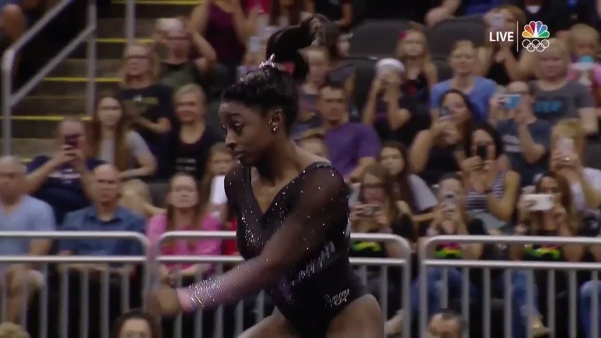 Slow-Motion Video Of Simone Biles' Routine Is Going Viral