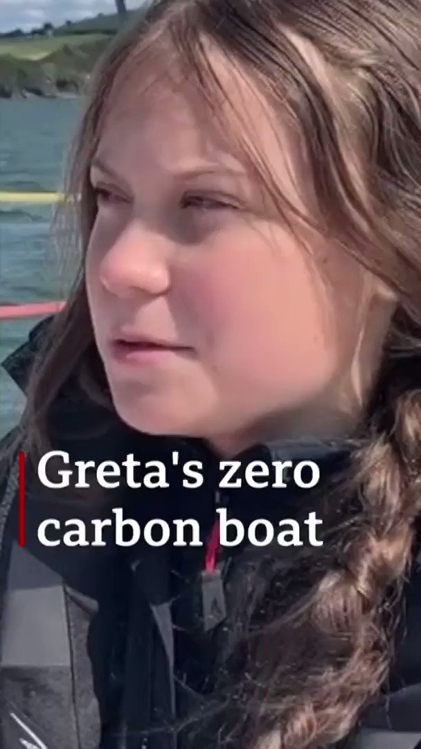 I might feel a bit sea sick and its not going to be comfortable Climate change activist Greta Thunberg will spend two weeks travelling across the North Atlantic on a boat to attend a crucial climate change conference in New York [tap to expand] bbc.in/31D2x7k