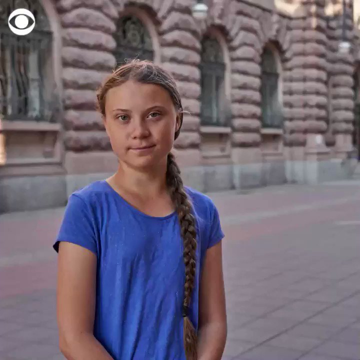 @CBSNews's photo on Greta Thunberg