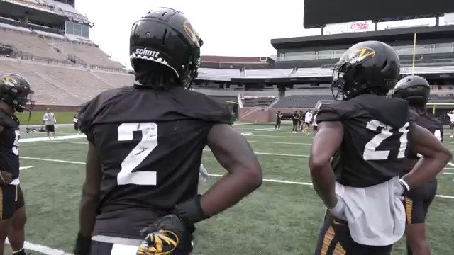 Fun little exchange I had with #Mizzous Christian Holmes about the relationship hes developed with fellow DB DeMarkus Acy... theyre close teammates and even closer friends, which helps on the field.