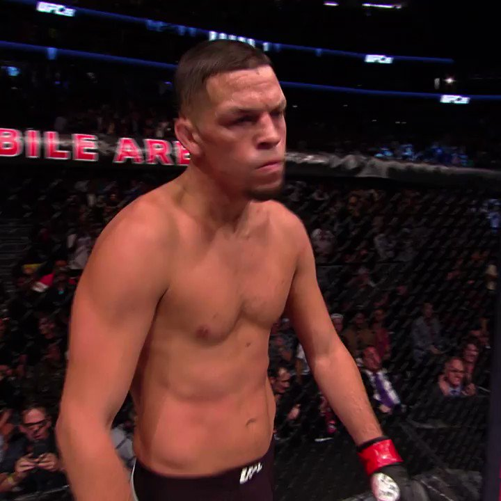 The Stockton Slap, folks ✋  @NateDiaz209 #UFC241