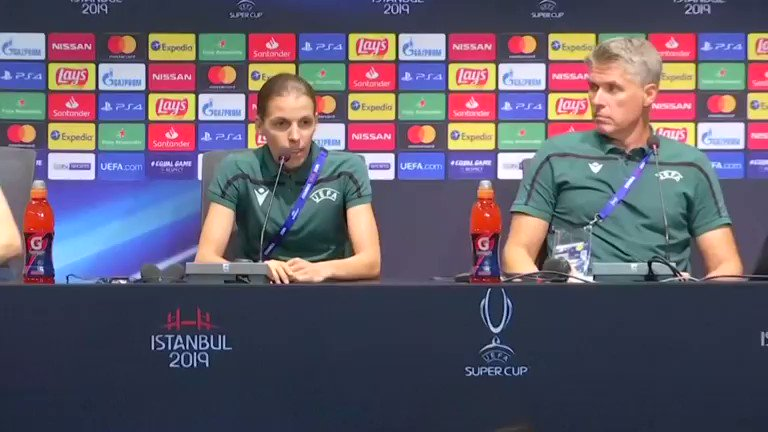 France's Stephanie Frappart takes center stage in a big moment for women in football, Klopp hails female referee for Super Cup final as 'historic moment'. Read more: https://reut.rs/31IVj1X