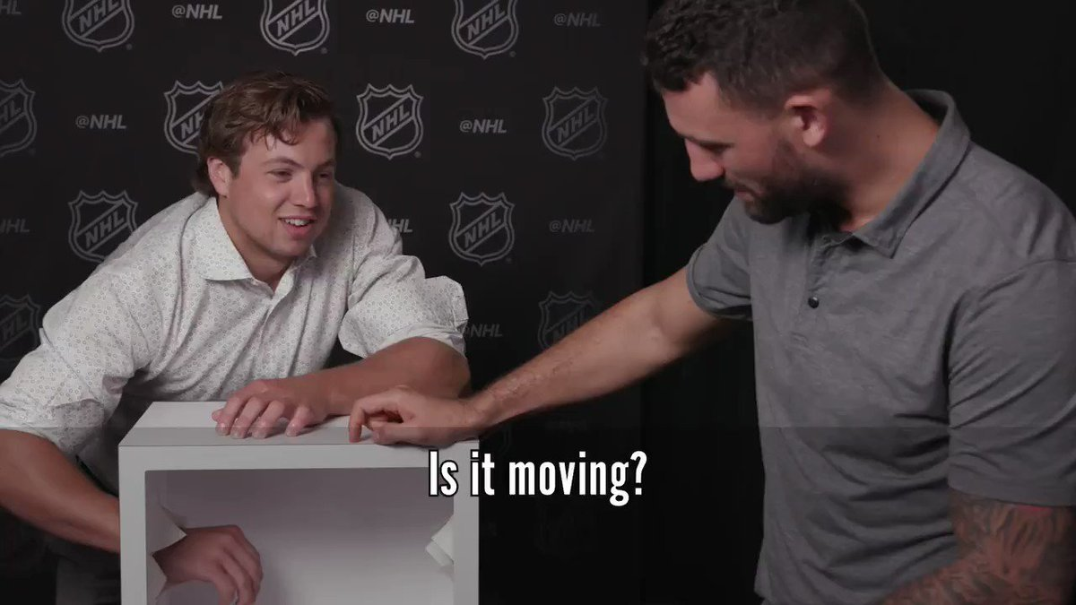 We wanted to play... but @CMcAvoy44 was NOT down. 🤷♂️ (Charlie McAvoy)
