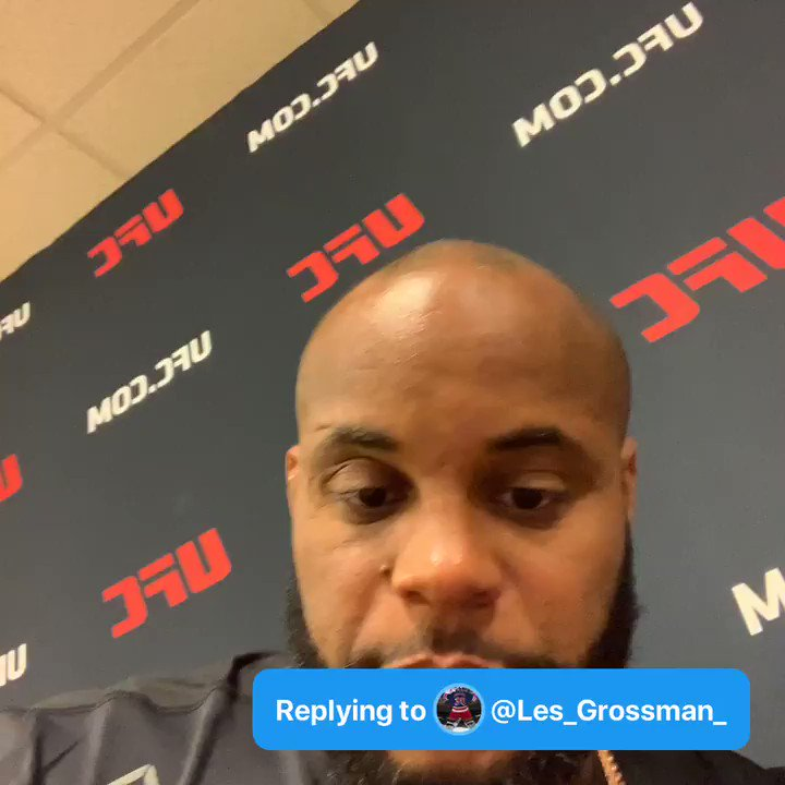 Q: What's the biggest difference between fighting Jon Jones and Stipe Miocic #AskDC - @Les_Grossman_  A: