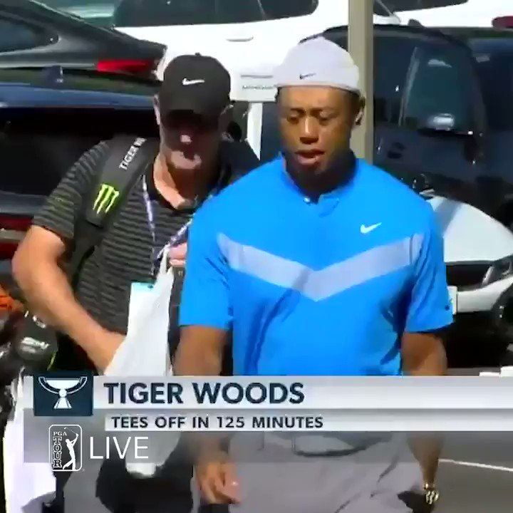 Tiger Woods shows up to course rocking his hat backward, Golf Twitter reacts accordingly