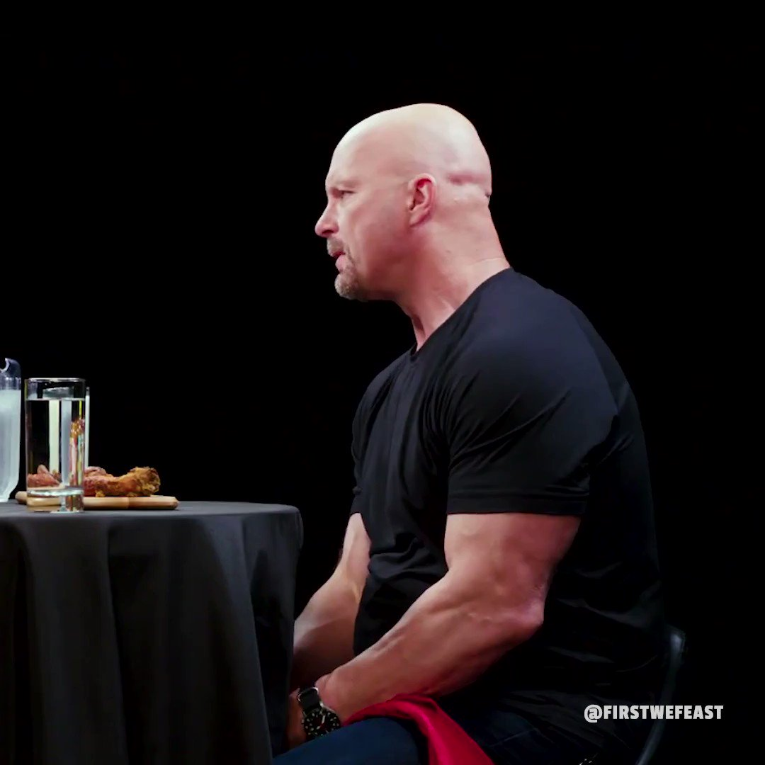 Good times. RT @firstwefeast: .@steveaustinBSR talks to us about @TheRock's mic skills on #HotOnes