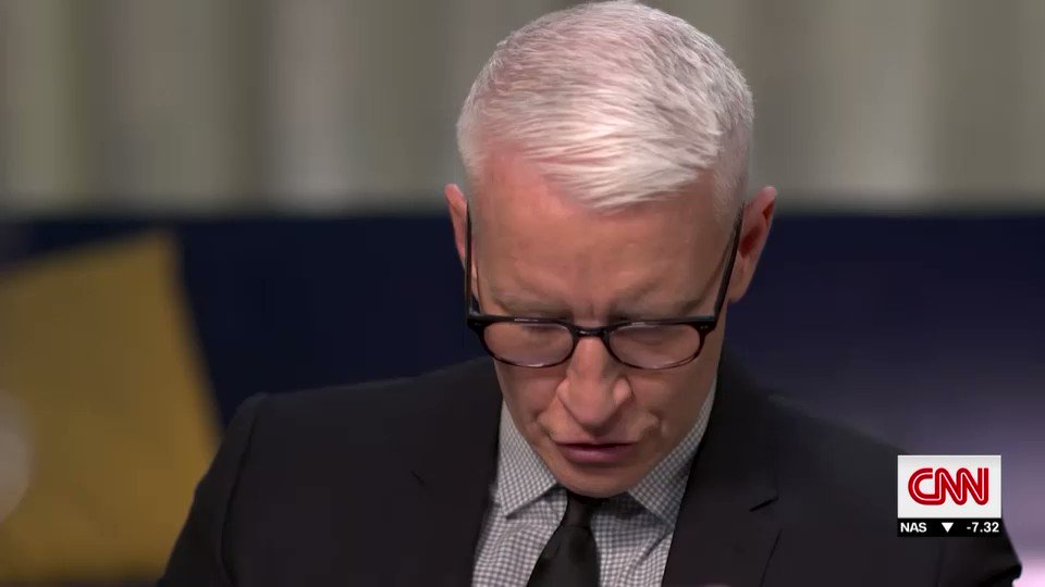 You said what punishment of gods are not gifts. Do you really believe that? @andersoncooper , choking back tears, asks Stephen Colbert, as they discuss grief.  Yes, replies the comedian. Its a gift to exist and with existence comes suffering. Theres no escaping that.