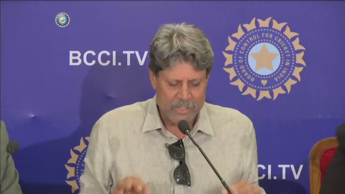 Cricket Advisory Committee member @therealkapildev says the decision to reappoint @RaviShastriOfc as #TeamIndias Head Coach was unanimous.