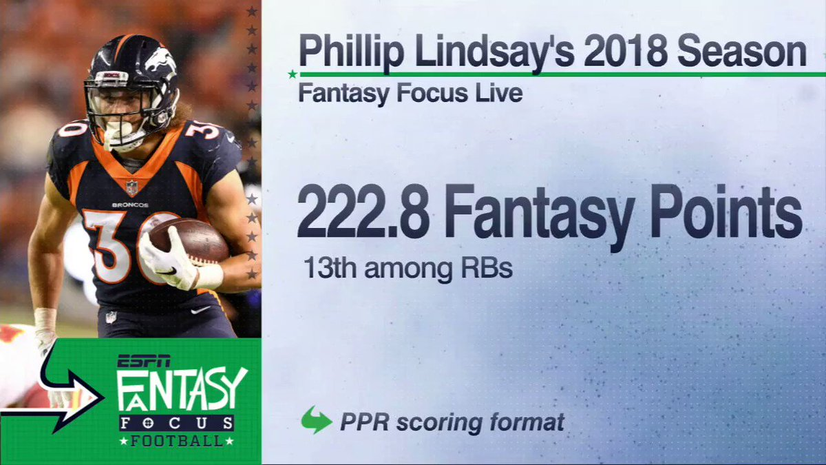 From undrafted to fantasy stud, Phillip Lindsay leads the way in the Broncos backfield.