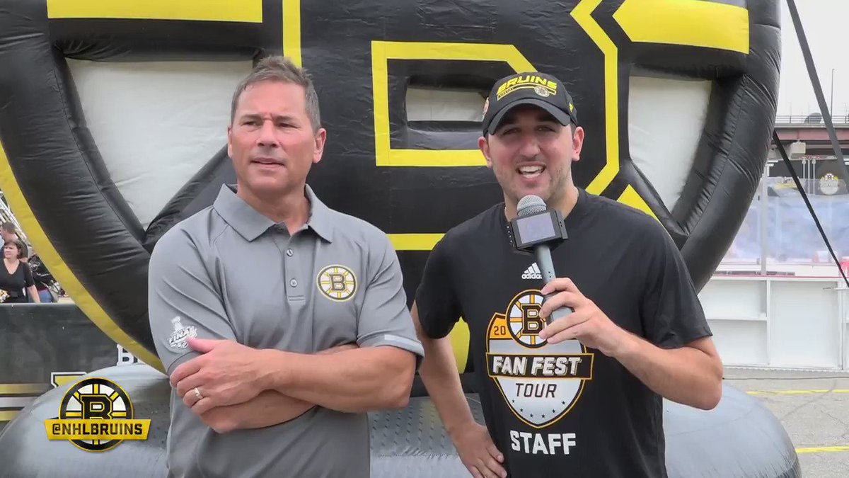 Its nice to get away in the summer...but Im ready to go. #NHLBruins head coach Bruce Cassidy goes 1-on-1 at Day 2 of #BruinsTour in Manchester: