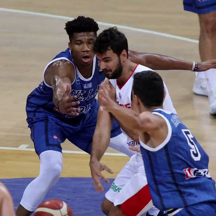Top plays from Giannis and Thanasis in Greece's 84-70 WIN over Turkey!!  🎥 @FIBAWC