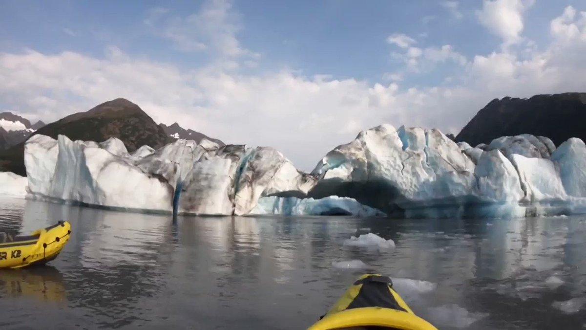 Two men kayaking in Alaska captured the moment a massive glacier collapsed cnn.it/2z7CxoK
